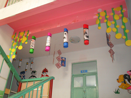 幼儿园走廊夏天吊饰